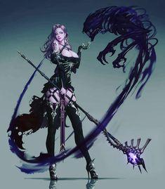 Dark Fantasy Art, Fantasy Art Women, Fantasy Girl, Fantasy Artwork, Art Anime Fille, Anime Art Girl, Female Character Design, Character Art, Fantasy Characters