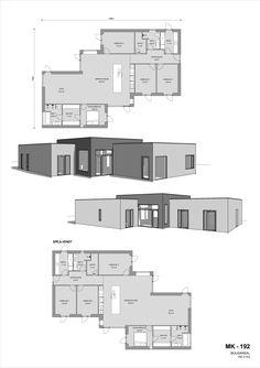 - Se plantegninger til funkishuse her Small House Plans, House 2, Design Elements, Bungalow, Floor Plans, House Design, Flooring, How To Plan, Landscape