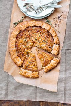 caramelized onion tart via Good Eggs