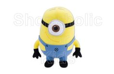 Despicable Me Minions Plush - Stuart .  Height = approximately 7.5in . With suction cup attachment . To order: http://www.shopaholic.com.ph/#!/Despicable-Me-Minions-Plush-Stuart/p/32298157