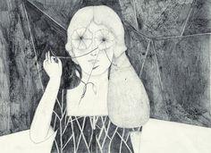 illustrations for SQUAME fanzine by Daniela Tieni, via Behance