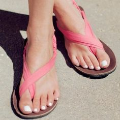 breast cancer ribbon sandals!