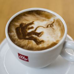 Gravity Movie Poster In Latte Foam