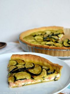 Ricotta-Lachs-Zucchini-Tarte - Tartes Salées et Pizzas - Healthy Holiday Recipes, Veggie Recipes, Seafood Recipes, Cooking Recipes, Pizza Recipes, Tart Recipes, Salmon Recipes, Zucchini Tarte, Zucchini Pie