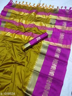 Sarees Fancy Soft cotton Silk Saree  *Fabric* Saree - Soft cotton Silk , Blouse - Soft cotton Silk  *Size* Saree - 5.5 Mtr Blouse - 0.8 Mtr  *Work * Zari weaving Work  *Sizes Available* Free Size *   Catalog Rating: ★3.9 (5967)  Catalog Name: Solid Sana Cotton Silk Sarees with Tassels and Latkans CatalogID_122576 C74-SC1004 Code: 385-1018534-