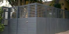 6 ft modern fence - 50/50 view on top 2 ft    http://harwelldesign.com