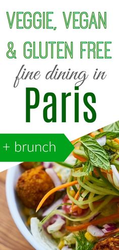 eat vegan, vegetarian, gluten free or raw in Paris! It is challenging to find vegetarian friendly restaurants in Paris but don't fear to live on salads and fries: check our guide and find good veggie restaurants in Paris. Enjoy fine dining and a vegan sunday brunch and get to know the yummy Paris