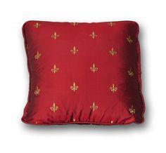 Silk Fleur De Lis Designer Pillows