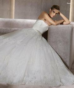 New Lovely White Strapless Puffy Lace Wedding Dress Bridal Gown All Size Custom US $138.99