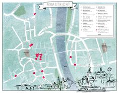 Maastricht hotspots plattegrond Holland, Travel 2017, Study Abroad, World Traveler, Holiday Destinations, Where To Go, Beautiful World, Netherlands, Places To Go