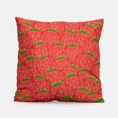 Strawberry Patch Pillow Strawberry Patch, Unique Image, Pillow Design, Patches, Cushions, Throw Pillows, Live, Prints, Cushion