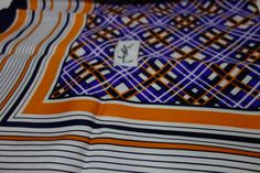 Lusting after..YSL Yves Saint Laurent Early Silk Scarf w/label Rare!