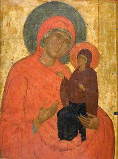 Saint Anna with Our Lady Type: Portable images Floor: floor Dating: End of c. Byzantine Art, Byzantine Icons, Portable Image, St Anne, Orthodox Icons, Our Lady, Ancient Greek, Renaissance, Saints