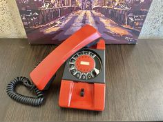 Vintage red phone 80s, Old rotary phone, Soviet phone, Circle dial rotary phone, Vintage landline phone, Old Dial Desk Phone, Wall phone Pay Attention To Me, Retro Phone, Vintage Phones, Hat For Man, Rotary, Telephone, Landline Phone, Red