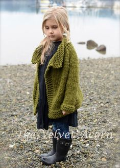 Taruyn Sweater Knitting pattern by The Velvet Acorn, a beautiful children cardigan at LoveKnitting. Knitting For Kids, Knitting Projects, Baby Knitting, Sweater Knitting Patterns, Knit Patterns, Heidi May, Velvet Acorn, Pulls, Knitwear