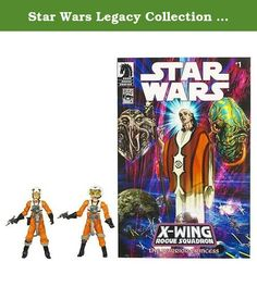 "Star Wars Legacy Collection 3 3/4"" Comic 2-Pack Dllr Nep and Plourr Ilo Actio. This set brings two popular fan-requested Rebel Pilots from one of the longest-running Star Wars comic book series of the 1990s! Each 3 3/4-inch figure sports loads of detail on their orange flight suits, and each is fully articulated with 14 joints each. As an added bonus, Plourr Ilo has a working holster for her blaster! ---* Each collectible, fun action figure set includes: 1x Plourr Ilo with removable…"