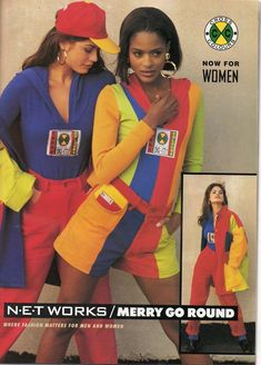 Cross Colors--clothing started in the late 80's but most popular in the early 90's.