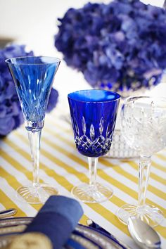 Beautiful glassware.  Photography: Karen Mordechai