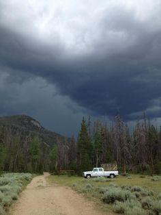 Rocky Mountains Colorado, Thunderstorm
