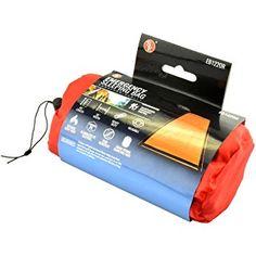 SE EB122OR Emergency Sleeping Bag with Drawstring Carrying Bag, Orange