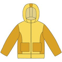 выкройка детской куртки, hoodie mt 98 (patroon zonder naadwaarde)