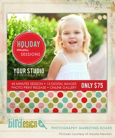 marketing boards | Photoshop templates for photographers by Birdesign  $8.00