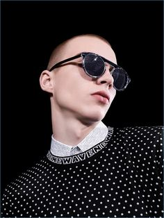 70503fc215f Modern sunglasses steal the spotlight for Dior Homme s fall-winter 2017  Newave collection. Sunglasses