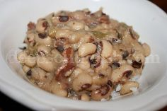 New Years Southern Style Black-Eyed Peas