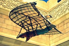 Aeronaut - Flying Machine invention, created by Abbas bin Firnas, who constructed and attempted to fly in his machine between 875 and early 880 AD.   This installation has been put up in Andalusia Court in Ibn Battuta Mall- Dubai