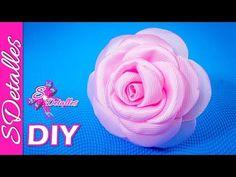 Como hacer flores: Flores de Cinta de Gros | Video# 92 | SDetalles | DIY - YouTube