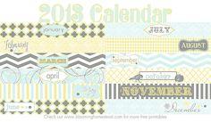 Blooming Homestead: 2013 Calendar {Free Printable}