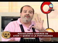 ▶ Plato impecable!!! Raviolones caseros de atun y queso a la portuguesa. - YouTube