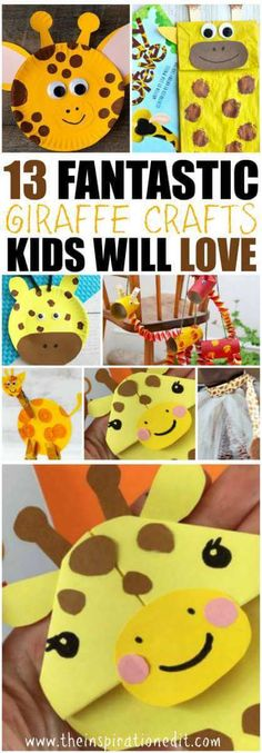 Fantastic Giraffe Crafts for kids. Check out these amazing Giraffe themed crafts. They are super fun and easy to make. #preschool #zooanimals #crafts #kidscrafts #craftwithkids
