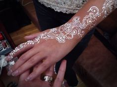 wedding white mehndi henna pearl