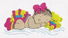 Bordados Creative: Bordados grátis - Matriz infantil - bebê dormindo