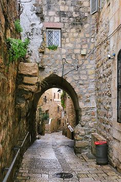 A charming little alley in Jerusalem. https://www.flickr.com/photos/portrety/16177258628/in/pool-jerusalemstone