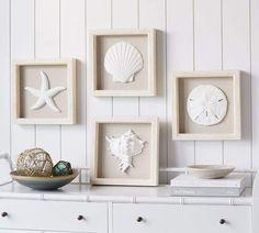Ocean Object Shadowboxes - Set Of 4  #afflink #Ad #ocean