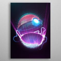 Pokeball Neon Light detailed, premium quality, magnet mounted prints on metal designed by talented artists. Our posters will make your wall come to life. Pop Art Posters, Poster Prints, Wall Art Prints, Canvas Prints, Neon Lighting, Pokemon, Canvas Art, Wall Decor, Neon Signs