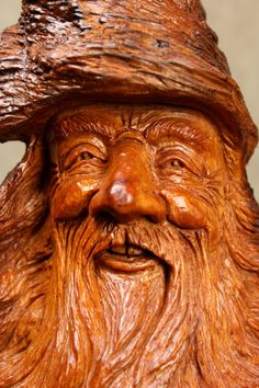 Wood Spirit Wood Carving Mothers Day Gift by TreeWizWoodCarvings, $145.00