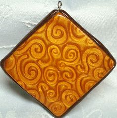 Polymer Clay GOLD MICA SHIFT Pendant or Necklace by KatersAcres, $7.50