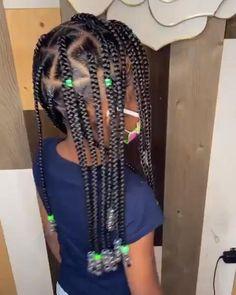Box Braids Hairstyles, Black Girl Braided Hairstyles, Black Kids Hairstyles, Natural Hairstyles For Kids, Hairstyle Short, School Hairstyles, Hairstyle For Kids, African Hairstyles For Kids, Kids Crochet Hairstyles