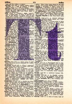 Repurposed Dictionary Art...T by SimpleeSaid on Etsy, $4.50
