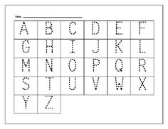 ABC Tracer Page is a great resource to use with homemade-ABC Candyland, ABC fishing and other fun games in kindergarten.  I use this for an RTI activity.  I bought Candyland at a resale shop and wrote the alphabet on the colored squares.  When a child lands on a letter, they name the letter and trace the letter.