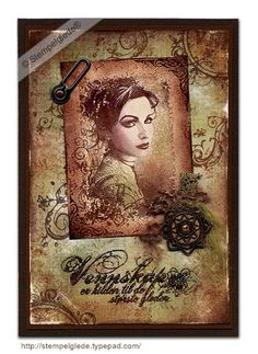 Handmade card by @Gunhild J.G. Bay using Dove of the East India Journey embellishment