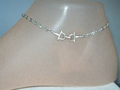Silver Anklet Vintage Silver Plated Ankle Bracelet by JypsyJewels