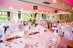 Sylvan Suite with optional pink light. Planning Your Day, Pink Light, Backdrops, Wedding Photos, Table Decorations, Weddings, Elegant, Light Rose, Marriage Pictures