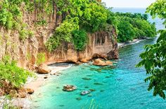Portsmouth, Dominica: Secret Beach from #Secret Bay #Caribbean