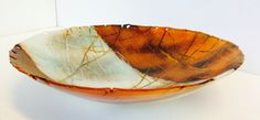 Fused glass bowl - Wing series by Claire Hall clairehallglass.co.uk