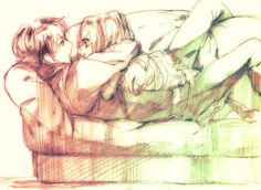 cute anime couple cuddling and making love on sofa tight hug tumblr staring in eyes