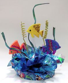 DIY Centerpiece Kits for Your Under the Sea Theme Party or Event. Under the sea theme supplies for your Bar Bat Mitzvah table decorations. Anchor Centerpiece, Fish Centerpiece, Birthday Centerpieces, Party Centerpieces, Table Decorations, Under The Sea Theme, Under The Sea Party, Dolphin Party, Shark Party